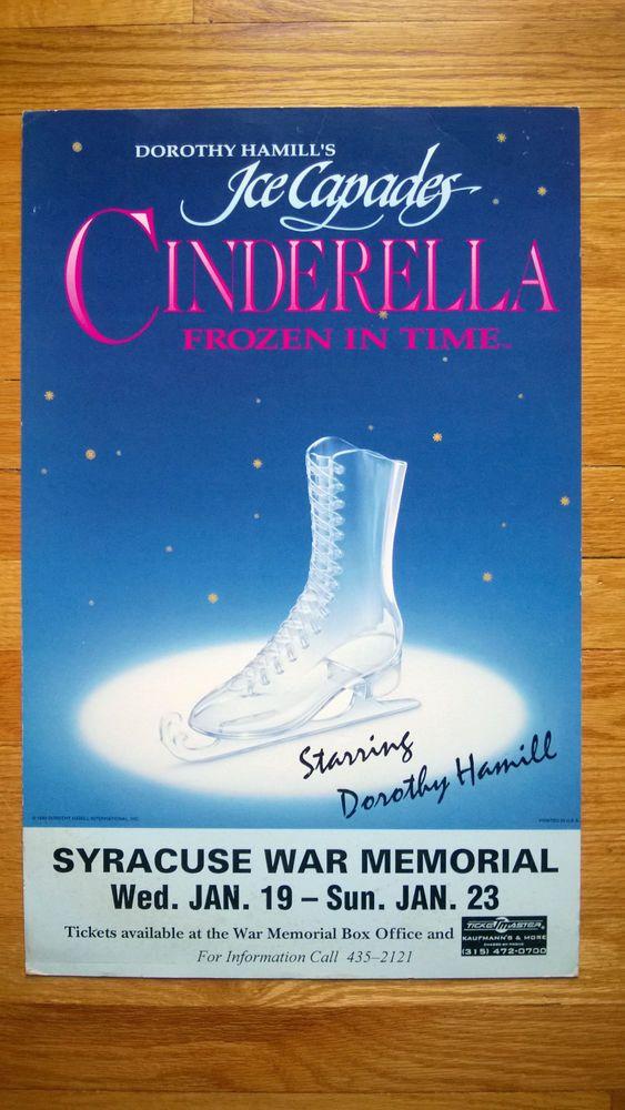 1993 Forsythe's Ice Capades Dorothy Hamill Cinderella Original Poster Syracuse War Memorial