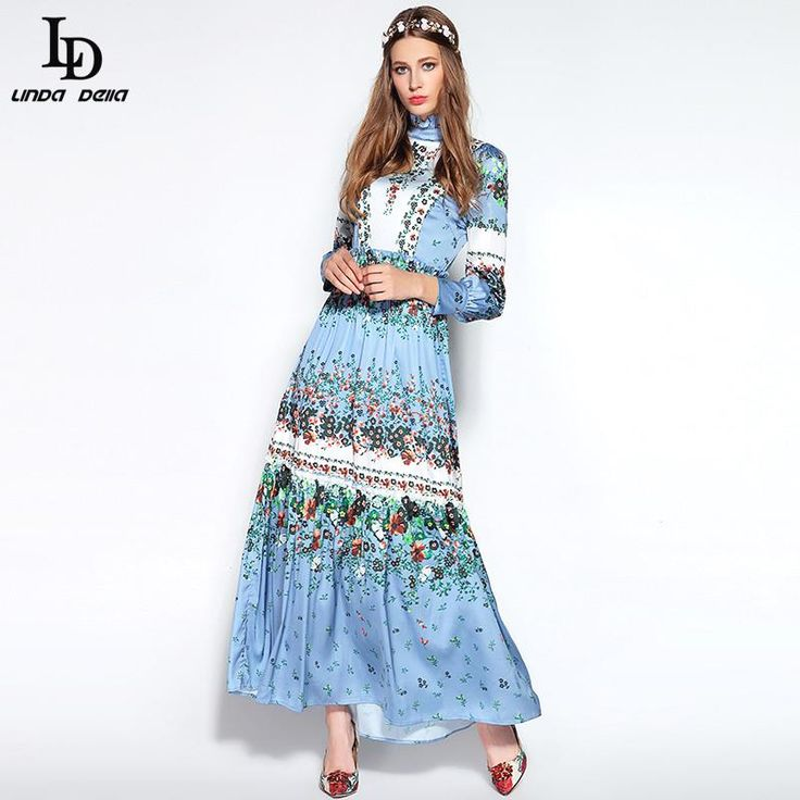 Long Dress Winter Women's Elegant Floral Print Holiday Party Maxi Dress $86.12   => Save up to 60% and Free Shipping => Order Now! #fashion #woman #shop #diy  http://www.clothesdeals.net/product/ld-linda-della-2016-runway-designer-long-dress-winter-womens-high-quality-elegant-floral-print-holiday-party-maxi-dress