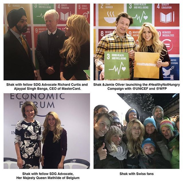 Shakira @shakira: Here are some photo highlights from Shaks visit to the World Economic Forum in