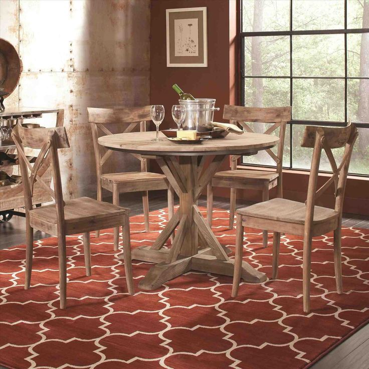 New Chateau Formal Traditional Rustic Cherry Finish Wood: Best 25+ Rustic Round Dining Table Ideas On Pinterest