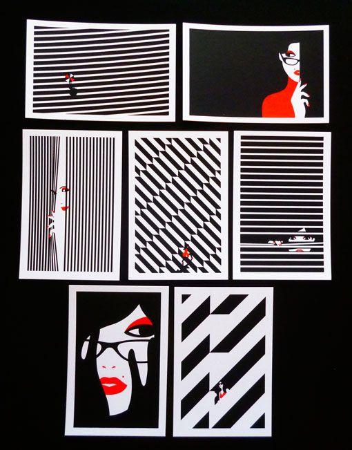Malika Favre: mini screenprint series.