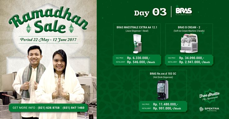 Day 3 Ramadhan Sale : Don't miss our fantastic offer on Bras today! Price start from Rp. 546.000,-/month #ramadhansale #bras