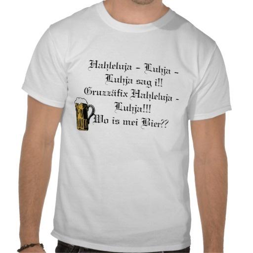 Father's Day Gift: Ein Bayer im Himmel -Tee Shirts