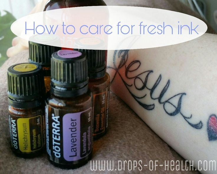 Tattoo Care   For those of you that get tattoos…here's a quick tip for you: Use essential oils in the healing process! Think about it. A tattoo is a thousand little puncture…
