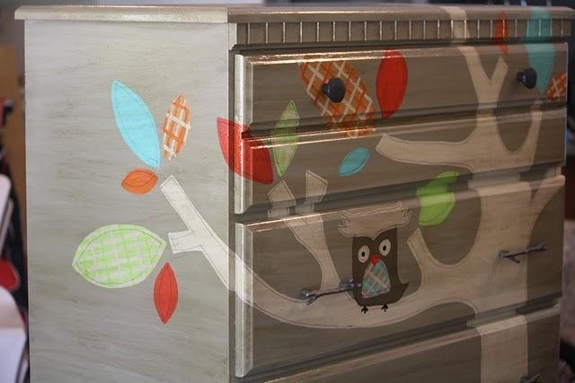 Cute Idea for Baby Dresser!...love Owl..