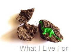 Fossil egg recipe to make your own discovery game! The boy's had a blast opening them at a party!