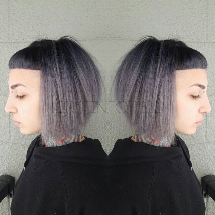 """""""@little_pingping looking extra amazing with her black to grey to silver ombre!  Black: @redken5thave  Dark Grey: @pravana Silver + Black Grey: @pravana…"""""""