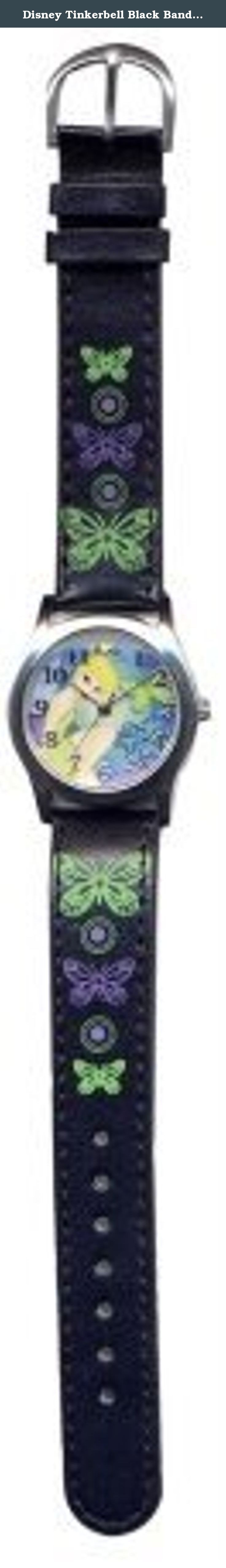 """Disney Tinkerbell Black Band Watch #41368A. Tinker Bell is a fictional character in J.M. Barrie's play and subsequent novel Peter and Wendy, as well as numerous adaptations including the widely known animated Disney film Peter Pan. In the original book and play, Tinker Bell is described as a common fairy who mends pots and kettles, i.e. a tinker, and is often referred to simply as """"Tink"""". Though sometimes ill-behaved and vindictive, at other times she is helpful and kind to Peter (for…"""