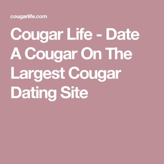 Cougar life dating site commercial