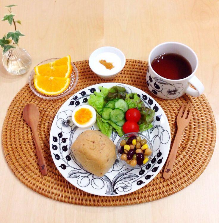 ふつ〜の朝ごはん。