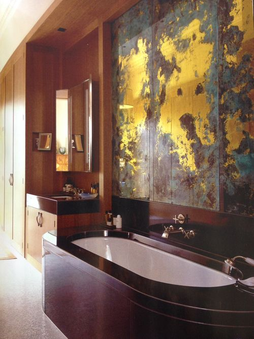 """""""Gilded glass panels by Emma Peasgood"""" (apparently that's me!), World of Interiors, March 2015"""