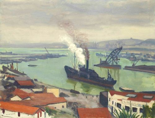 Albert Marquet (1875-1947) Cargo sortant du port