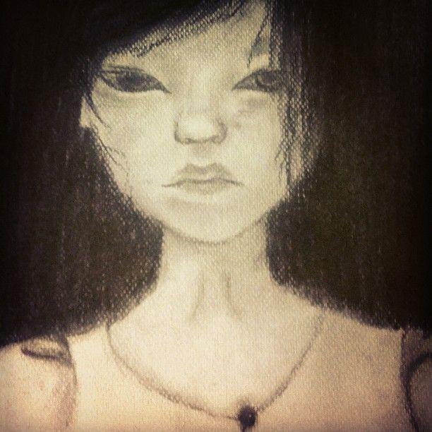 #myart #art #dark #doll #portrait #drawingcharcoal