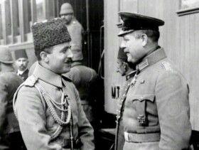Enver Paşa ve Alman subayı