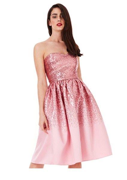 aa4075d1358 Goddess pink corsage kjole | Fashion | Strapless dress formal ...