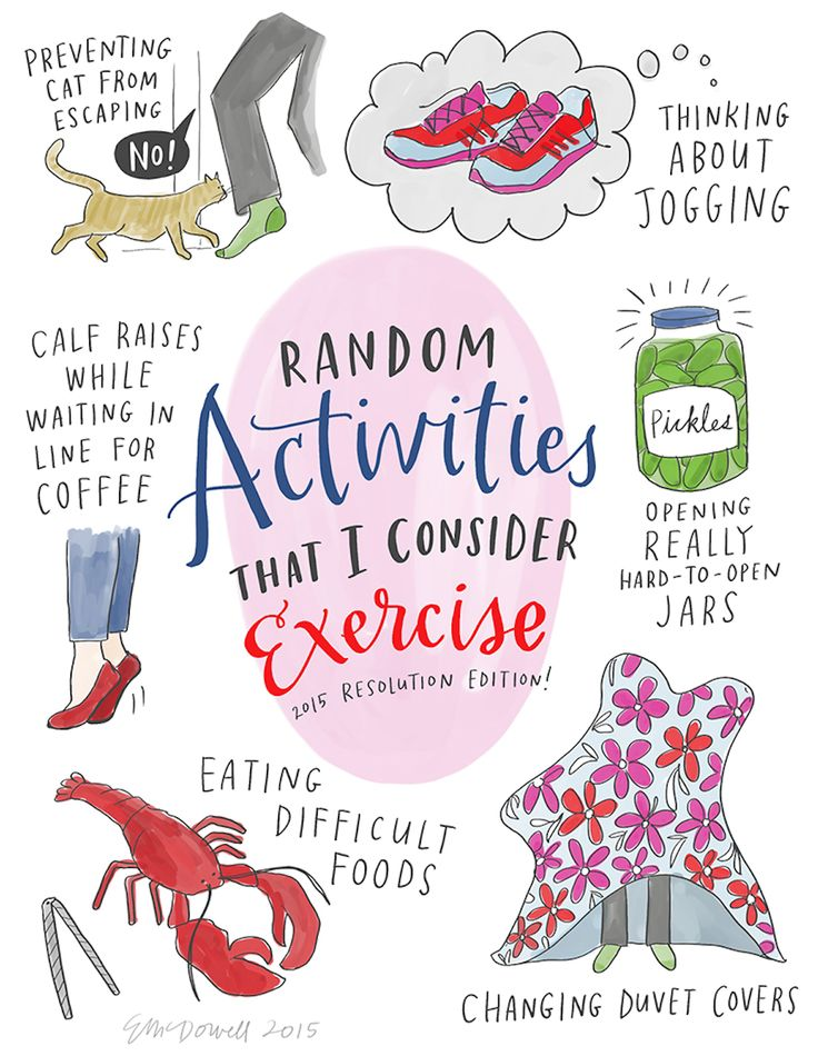 A CUP OF JO: Sneaky exercise (Illustration by Emily McDowell)