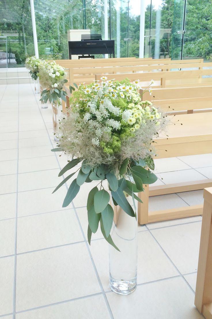# Vress et Rose # Wedding # white # chapel # Flower # Bridal # ブレスエットロゼ #ウェディング # 白# チャペル #バージンロード# 花 # ブライダル#教会