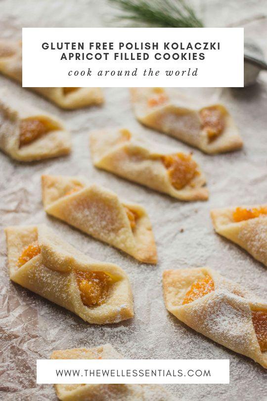 Polish Kolaczki Apricot Filled Cookies (Gluten Free)