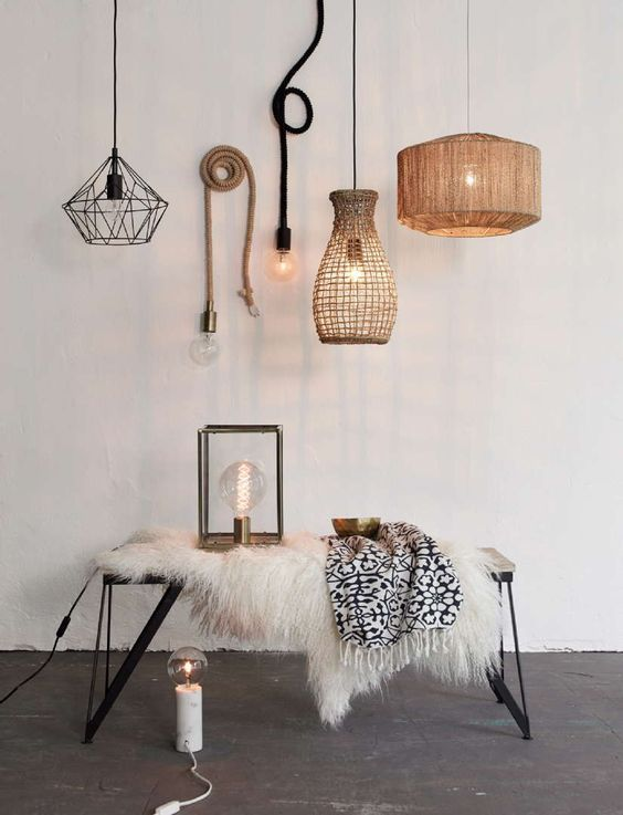 Trend DIY mand als gevlochten hanglamp