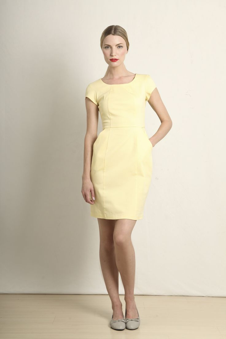 Ana dress in lemon  GB109-LMN  R760.00  www.georgieb.com