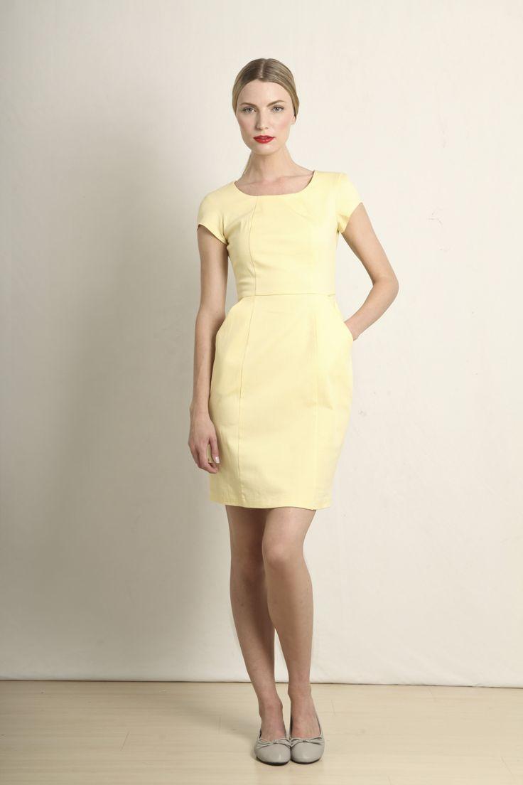 Ana dress in lemon  GB109-LMN  R760.00  www.georgieb.com