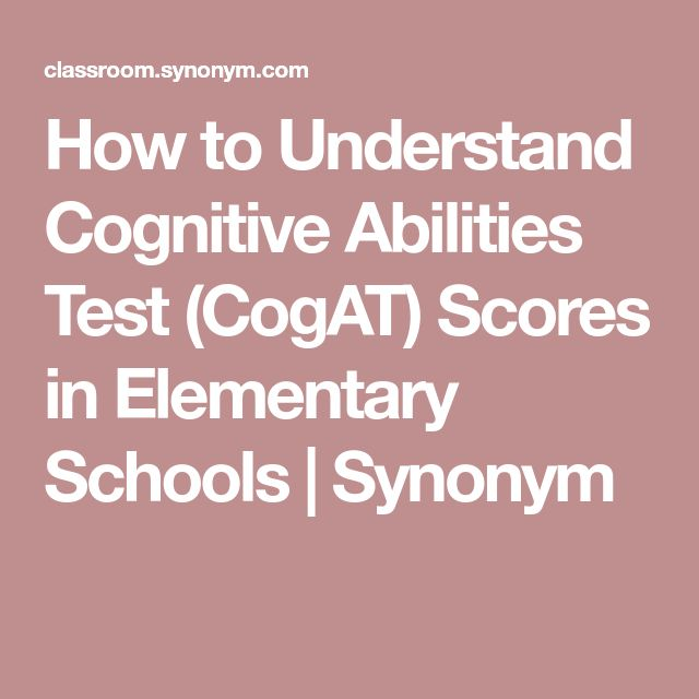 How to Understand Cognitive Abilities Test (CogAT) Scores in Elementary Schools | Synonym