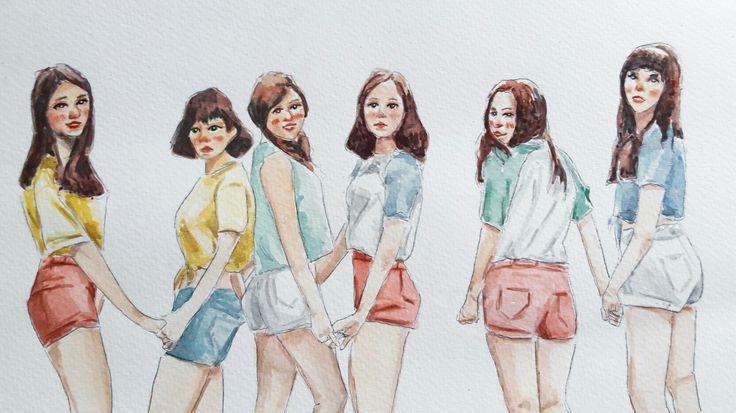 ❤ #gfriend #gfriend  #gfriendfanart #kpop #watercolor #draw #kpopfanart #illustrator #illustration #draw