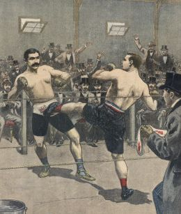 ☛ Charles Charlemont vs Jeff Driscoll [28 octobre 1899]. Ce match-défi oppose…