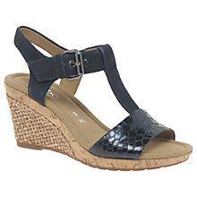 Buy Gabor Karen Wide Fit Wedge Heeled Sandals Online at johnlewis.com