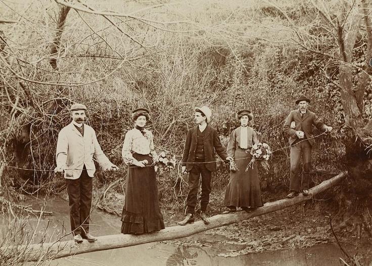 Crossing the Plenty River, Greensborough, circa 1885 Victoria Australia