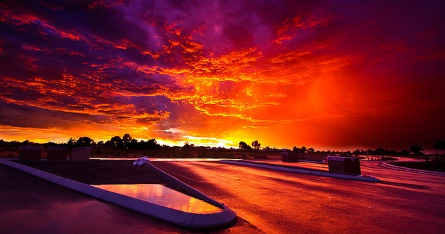 Storm Sunset over Perth - Australia