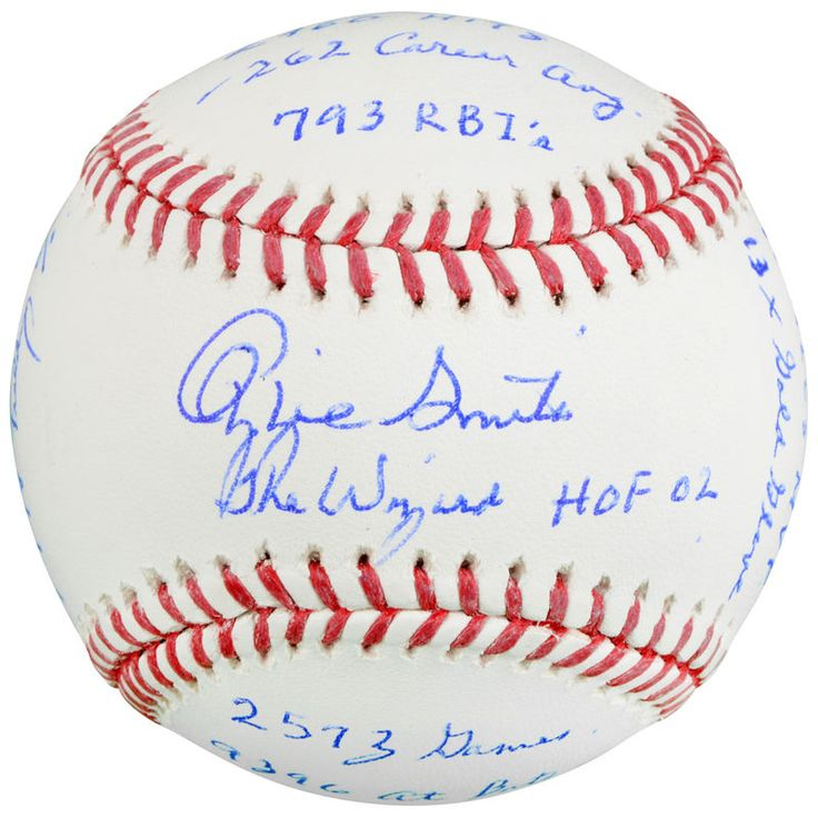 Ozzie Smith St. Louis Cardinals Fanatics Authentic Autographed Baseball with Multiple Career Stats Inscriptions - Limited Edition of 12