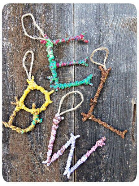 DIY Twig Monogram Ornament
