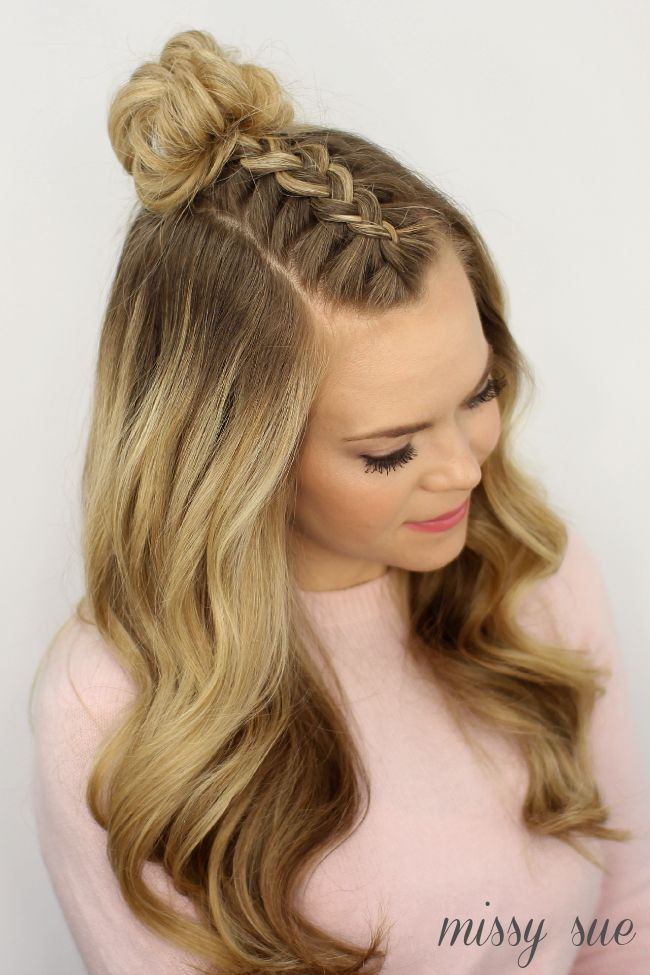 Fabulous 1000 Ideas About Half Braided Hairstyles On Pinterest Hair Hairstyles For Women Draintrainus