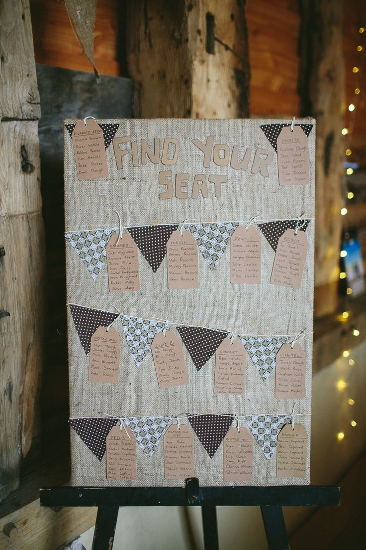 Hessian Bunting Seating Table Plan