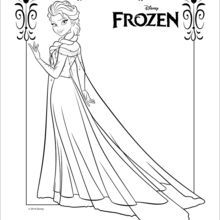 Dibujo para colorear : Elsa, la Reina de las Nieves