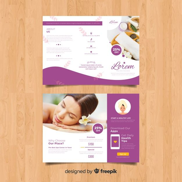 Spa Flyers Templates Free