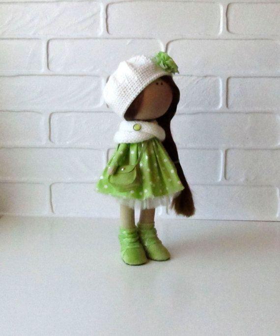 Lerika Doll-Handmade Doll-Textile Doll-Fabric Doll-Rag