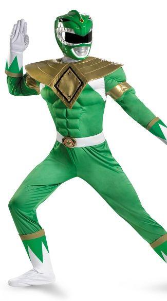 Men's Green Power Ranger Costume