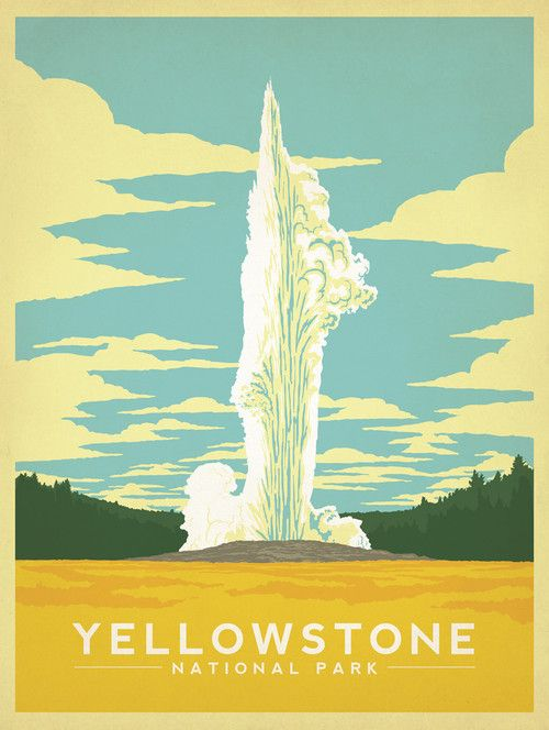Yellowstone National Park http://www.houzz.com/photos/22746526/Yellowstone-National-Park-Gallery-Print-midcentury-fine-art-prints