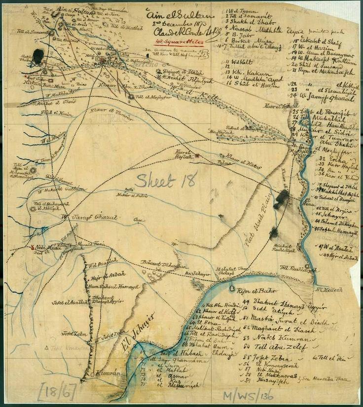 Tracing by Conder of Camp Ain Es Sultan