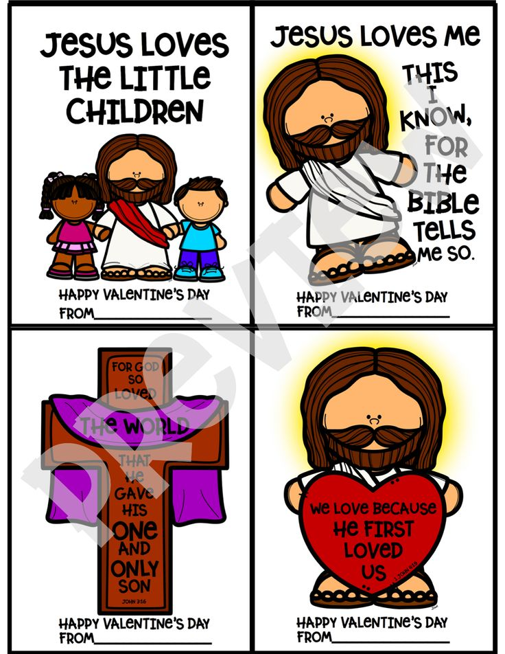 Jesus Loves Me Valentine Cards, Coloring Sheets, and
