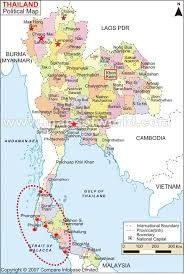 Image result for map of thailand and phuket showing areas affected by 2004 tsunami