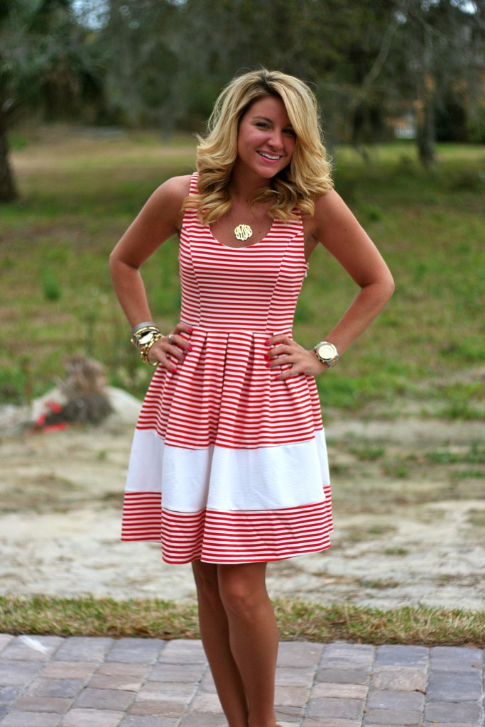 Red White Stripe Dress | Shop Dandy LLC