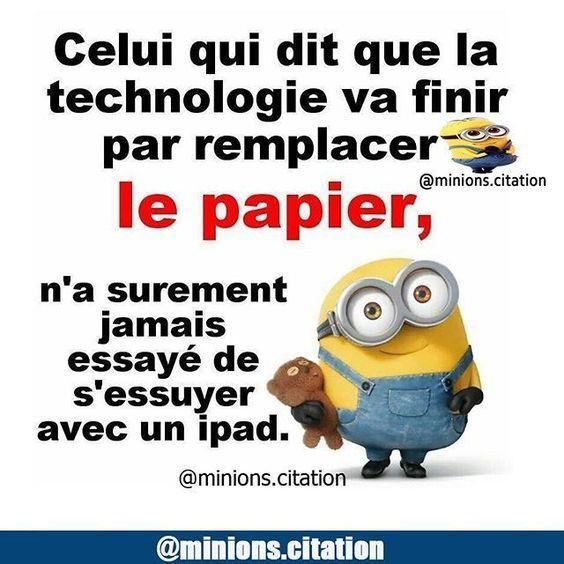 Celui qui dit que la #technologie va #finir par remplacer le #papier n'as surement #jamais essuyé de s'essuyer avec un ipad !!! #rire #blague #blagues #gag #humour #gags