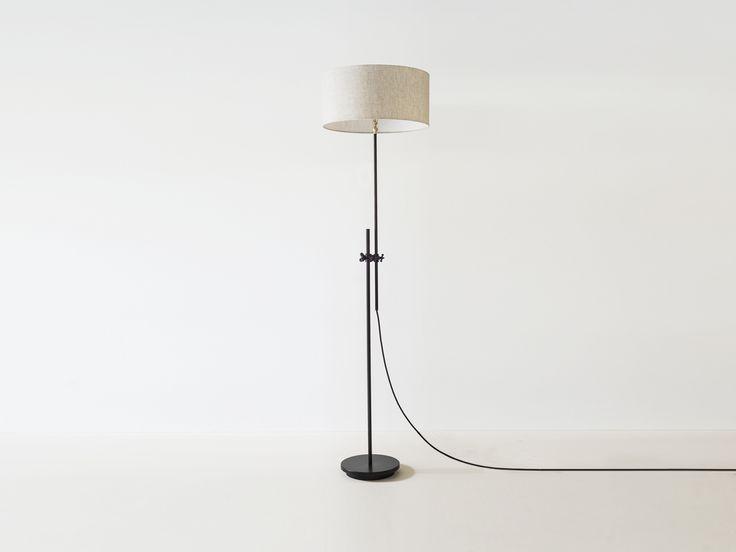 Workstead shaded floor lamp mid century light fixture