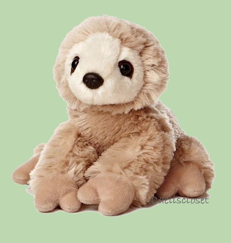 "Aurora SLOTH 8"" Flopsie Plush Two Toed Sloth Floppy Stuffed Animal NEW #Aurora"