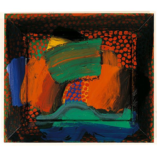 Howard Hodgkin. Patrick in Italy. 1991-93. Oil on wood. One of my favorite artists.