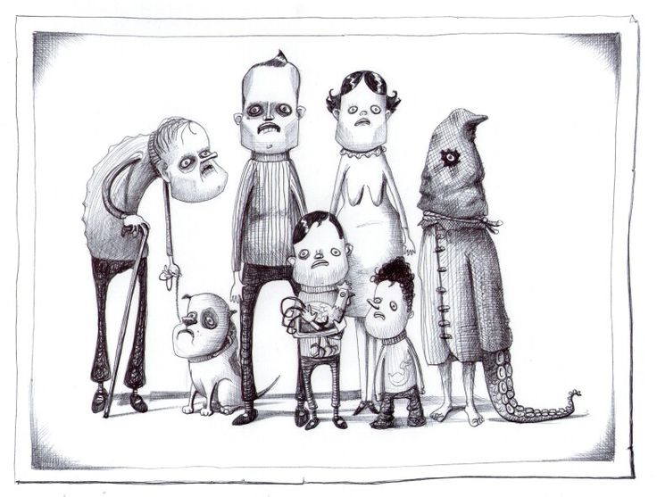 'The Family '. Illustration by Chris Harrendence