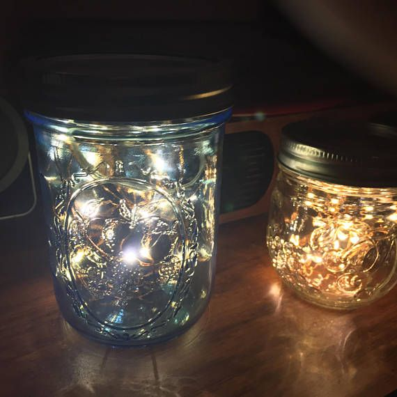 Want something with a little bit of whimsy while sticking to your aesthetic? This might be for you. A small set of battery powered LED lights are nestled inside the glass jar, while the battery pack is hidden from view. I currently have warm and cool white LEDs, your choice.